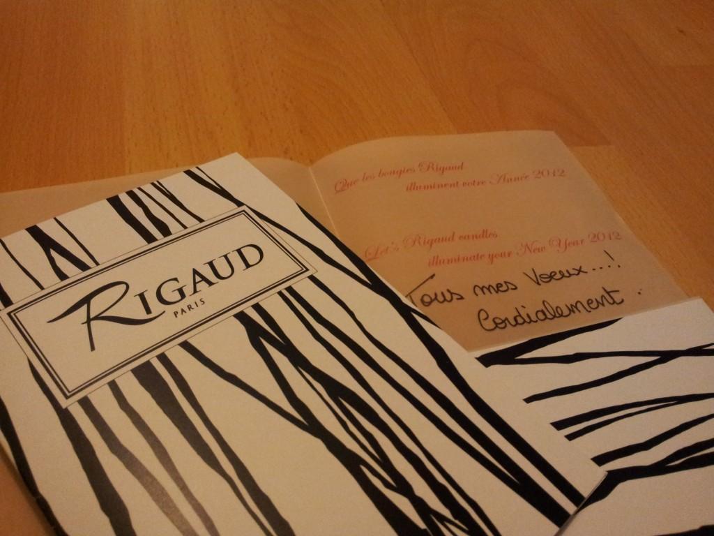 Carte de voeux Rigaud